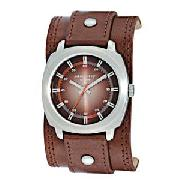 Identity Mens Brown Cuff Watch
