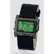 Identity Mens Digital Black Strap Watch
